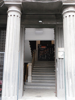 Entrance of the exhibition / place of infection