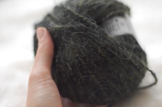 acrylic/wool/mohair blend yarn | by this lyre lark