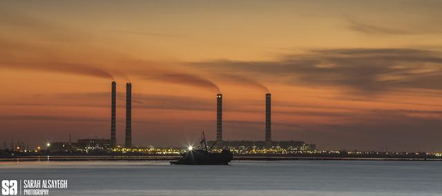 Kuwait - Doha Port - The Pollution Sunset