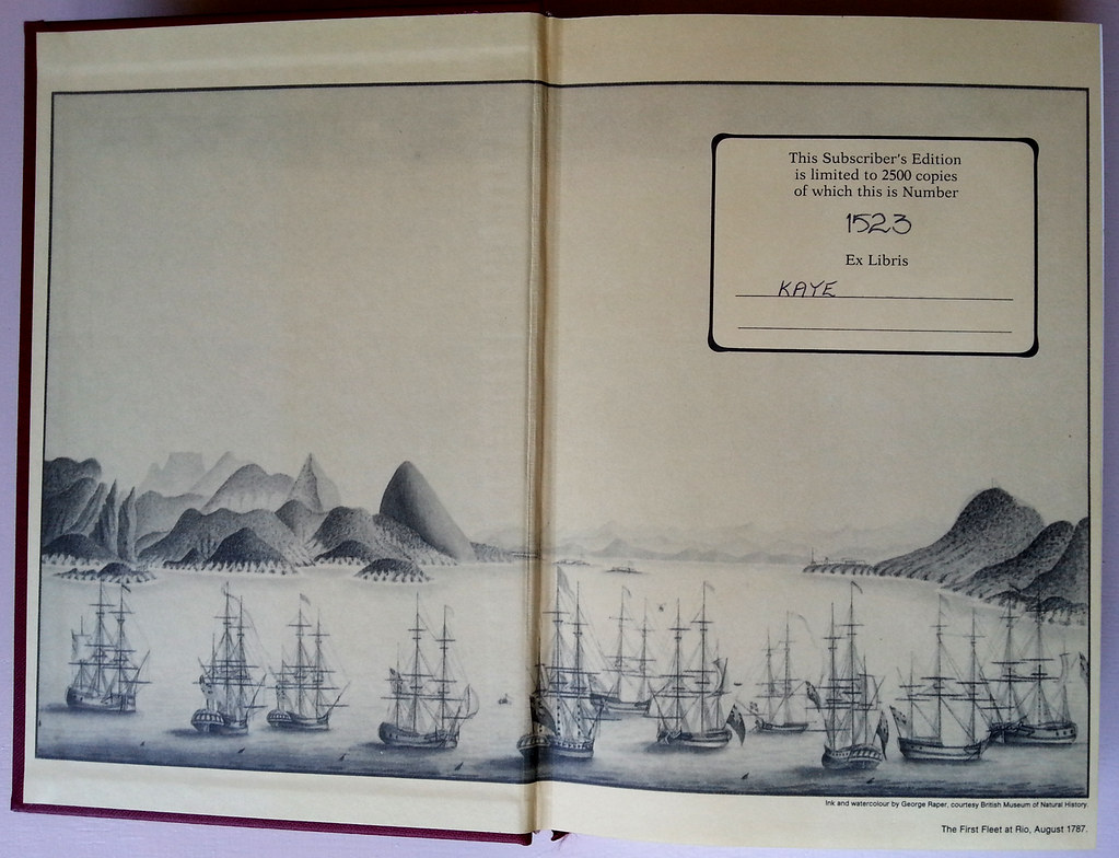 The First Fleet at Rio, August 1787 - ink and watercolour