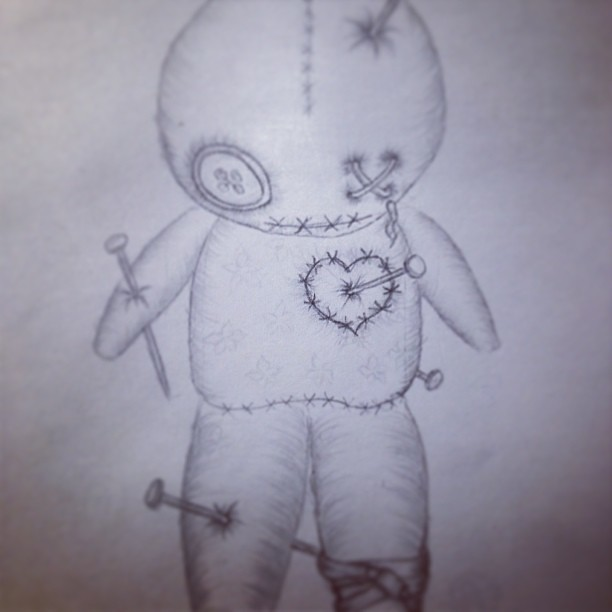 W.I.P of a voodoo doll tattoo design step 4! Next step: co… | Flickr