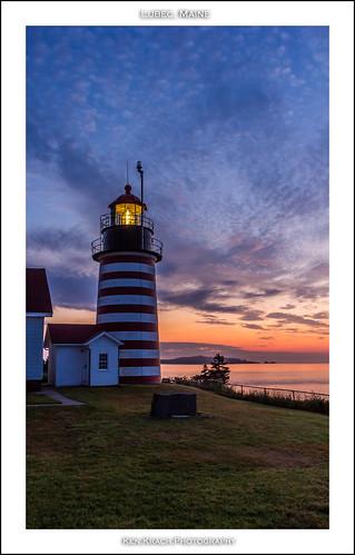 longexposure lighthouse sunrise maine atlanticocean quoddyheadlight