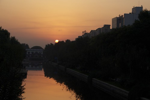 sunrise reflections beijing