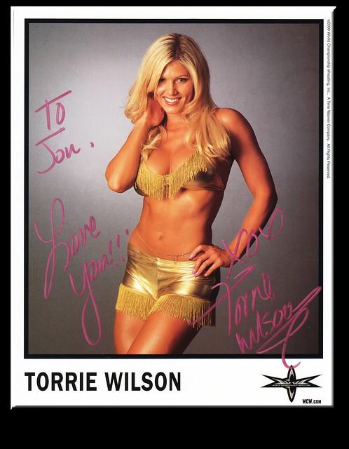Torrie Wilson Autographed Color 2000 WCW Promo Photo