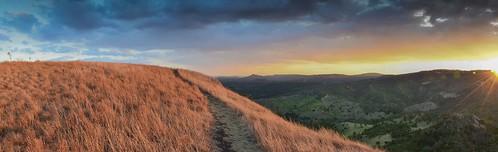 sunset panorama cloud mountains photoshop table bush nikon top pano smoke hill australia ranges adobe flare qld queensland vista forms nikkor fires range toowoomba flaring hinterland cs6 18105mm d5100