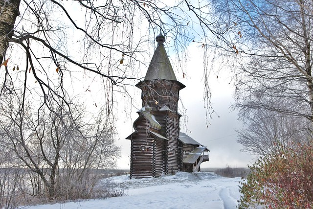 Karelia, Russia, the Assumption Church, now destroyed by fire