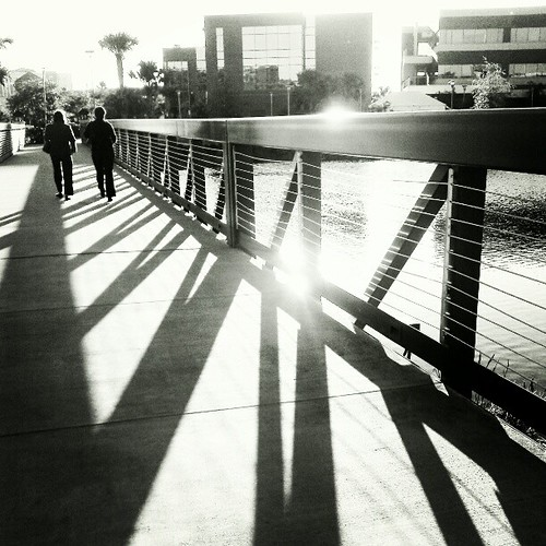 street shadow people blackandwhite bw silhouette contrast square orlando lofi squareformat ucf instagramapp uploaded:by=instagram htcsensation foursquare:venue=4e586b42227131507c9c926b