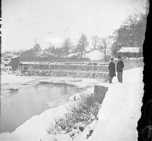 Weir on the River Dodder below Orwell Bridge | by National Library of Ireland on The Commons