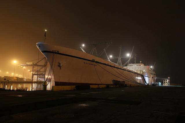 Nuclear Ship NS Savannah - Baltimore at Night