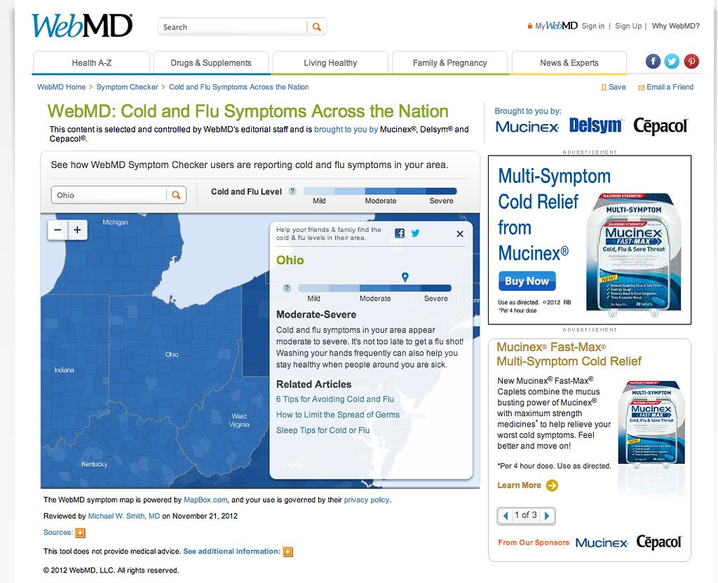 WebMD Publishes Flu Risk Map with MapBox | This year's flu s