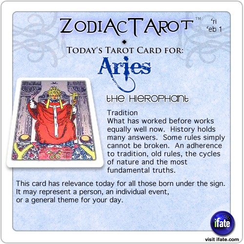 aries today tarot