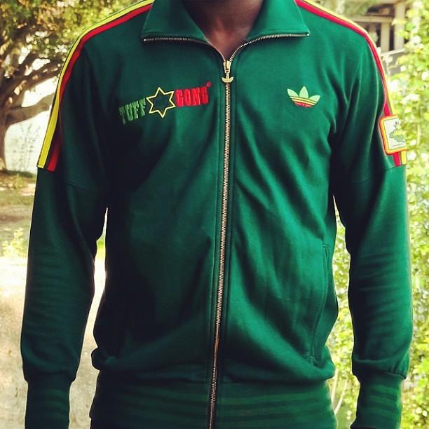 Adidas Originals Bob Marley Tuff Gong Rasta Military Jacket