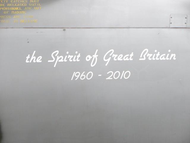 The Spirit of Great Britain, an Avro Vulcan bomber.