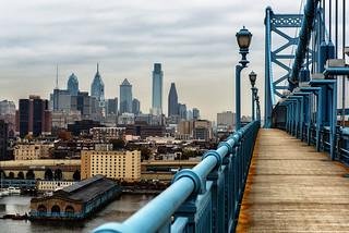 Philadelphia from the Ben Franklin Bridge | by Garen M.