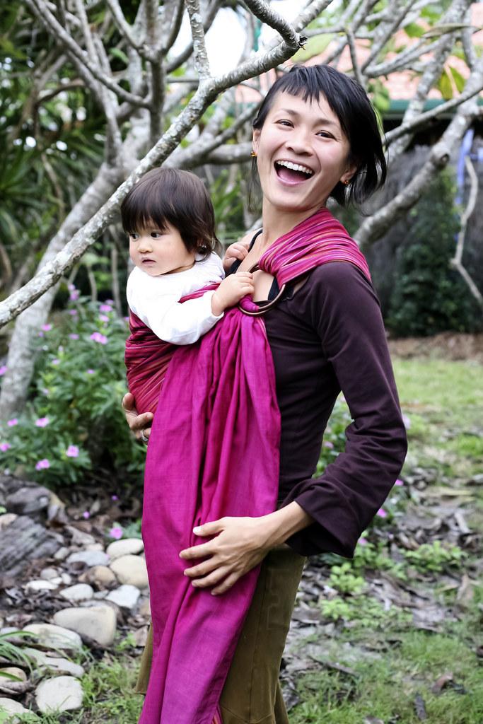 Toddler Babywearing In The Hugabub Ring Sling This Ruby Re Flickr