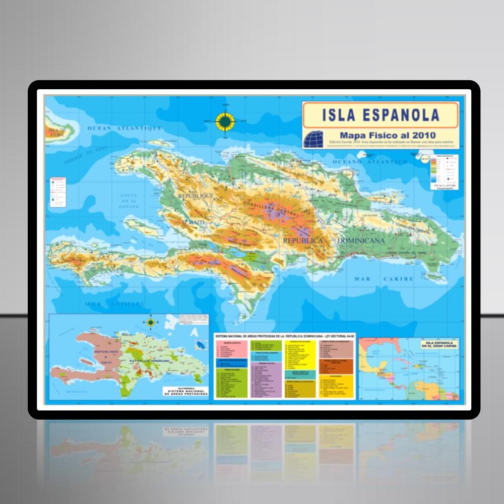 Isla Espanola Mapa Fisico Mapasgaar Flickr