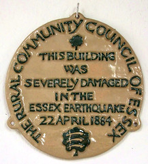severely damaged in the Essex earthquake