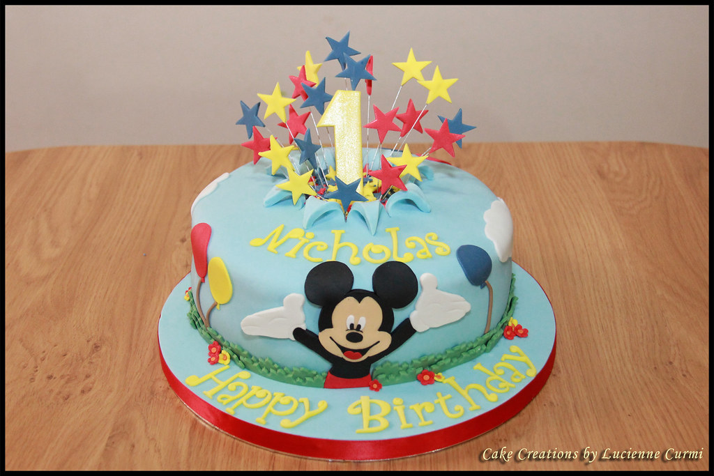 Mickey Mouse 1st Birthday Cake.Mickey Mouse First Birthday Cake Lucienne Curmi Flickr