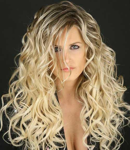 Long Blonde Permed Hair Angelahot Flickr