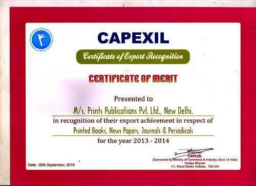 Certification of Merit in Recognition of Export 2013-2014 | by printspublications