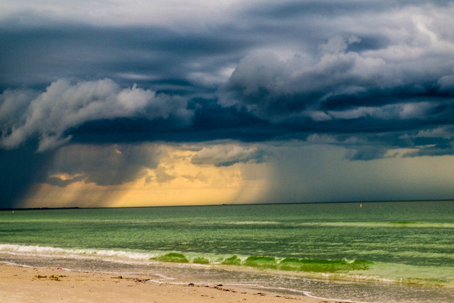 Midday storm on the Gulf