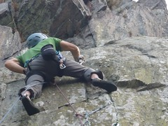 Sat, 2012-10-06 15:22 - In The Brand, Leicestershire, E4 6a.  Belayed and shot by Graeme.  ©Graeme Baxter