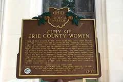 Jury of Erie County Women/Erie County Courthouse Historical Marker (Sandusky, Ohio)
