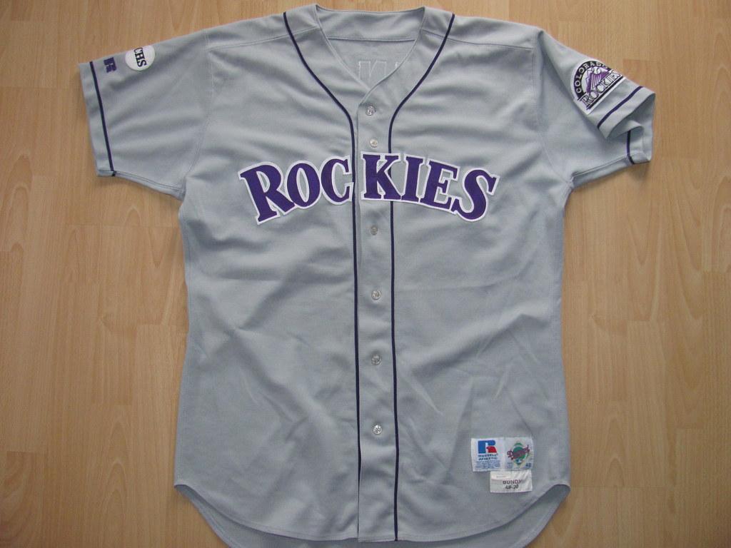 buy popular 49a2a 4bf25 Colorado Rockies 1999 road Game Worn Jersey | The Colorado R ...