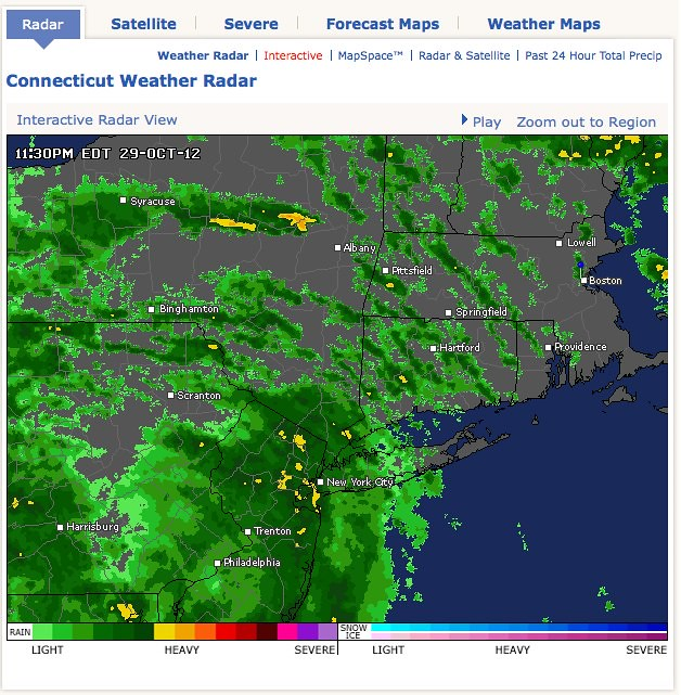 Weather connecticut map