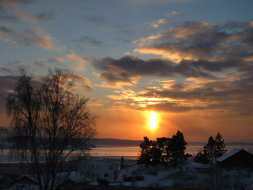 winter sea snow sunrise sweden onsala forsbäck