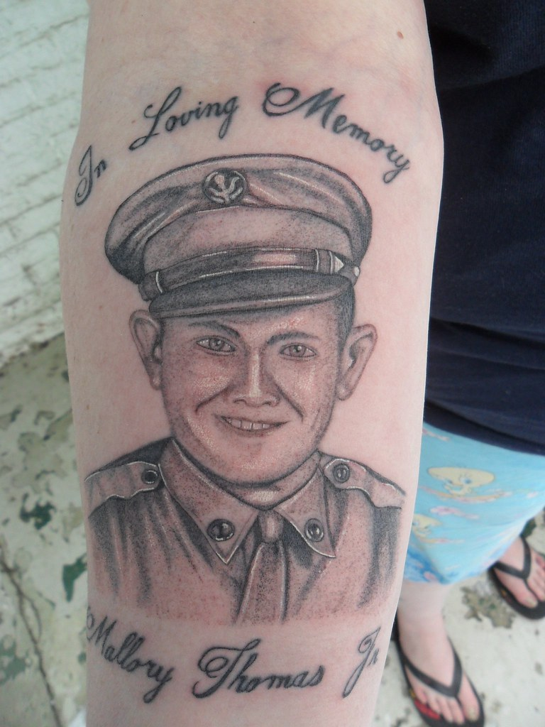 Rip Soldier Tattoo Single Needle Rest In Peace Mr Thomas Flickr