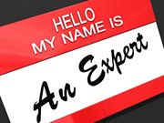 Hello My Name Is An Expert | by One Way Stock