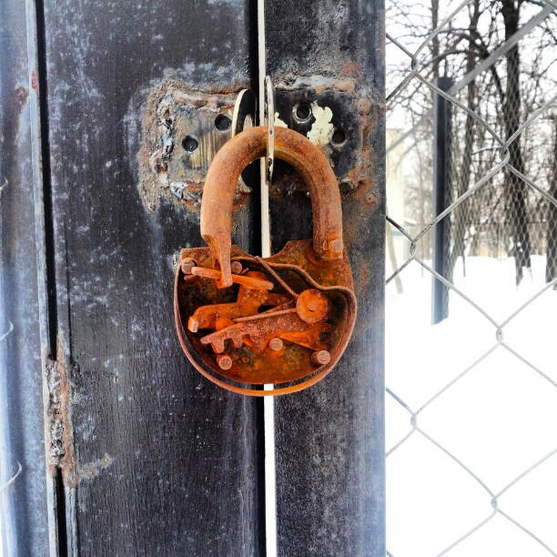 The lock is still there.