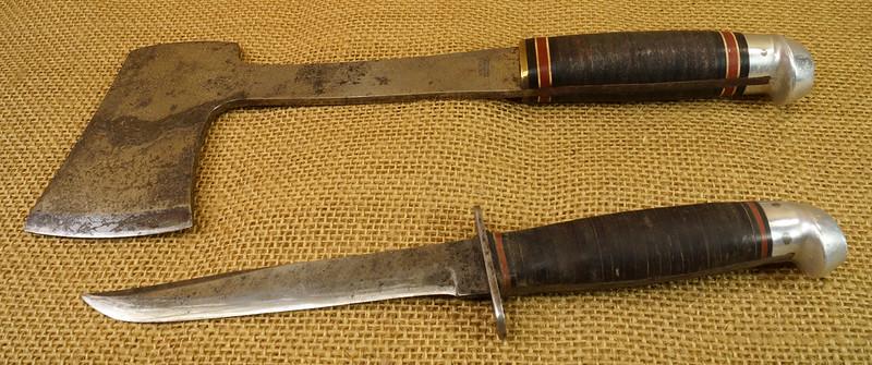RD14019 Vintage Western Knife & Hatchet Combo Boulder, Colo. DSC05371