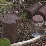 Old tin cans from lookout