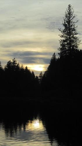 november autumn trees sunset lake black reflection water clouds northwest canonpowershot waterscape chainlakes marilynhassler omadarlingphotography