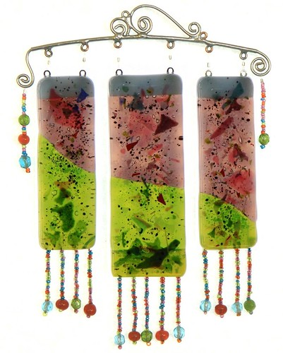 Three Panel Fused Glass Suncatcher by Robbin | by Robbin With 2 Bs