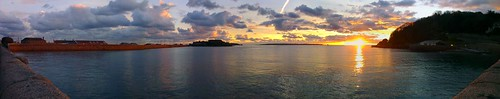 sunrise stitch panoramic guernsey channelislands castlecornet stpeterport havelet