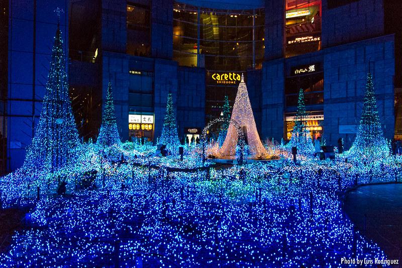 Luces de Navidad del Caretta Shiodome