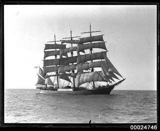 Four-masted barque PAMIR under sail at sea, 1934-1949 | by Australian National Maritime Museum on The Commons