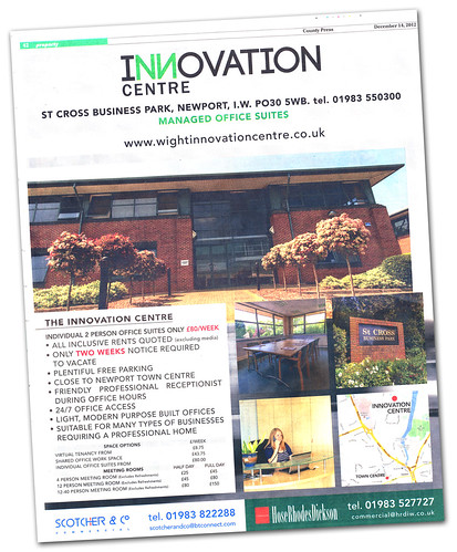 Innovation Centre ad - IWCP 14-12-2012   by s0ulsurfing
