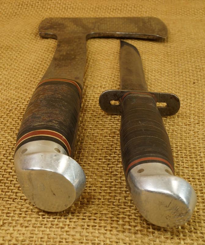 RD14019 Vintage Western Knife & Hatchet Combo Boulder, Colo. DSC05374