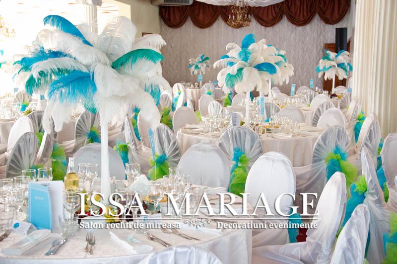 Decoratiuni Nunta Albastru Cu Turqouise Si Aranjamente Sup Flickr
