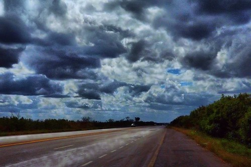 Vapor en la carretera