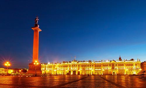 La Plaza del Palacio con el Hermitage de fondo, San Petersburgo | Rusia