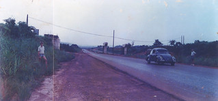 With my father in Enugu in Nigeria