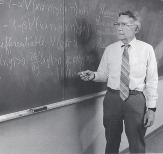 Professor of Mathematics Kenneth Cooke teaching in 1993