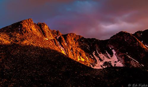 mountains clouds colorado sunsets rockymountains mtevans coloradomountains