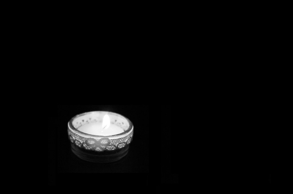 Candle In The Dark Room Here I Have Just Taken A Photo Of Flickr