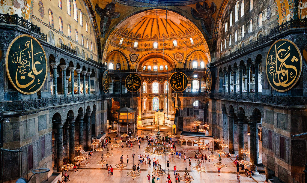 Interior of Hagia Sophia, Istanbul, Turkey. 532 – 537 CE ...   Hagia Sophia Interior Columns